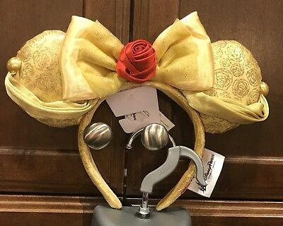 Disney Parks Beauty&the Beast Belle Mickey Mouse Headband Ears Nwt