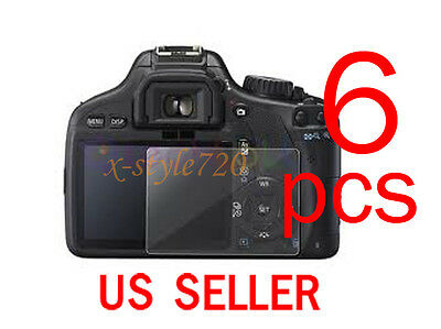 6pcs Clear LCD Screen Protector Film Guard For Canon EOS 550D REBEL T2i