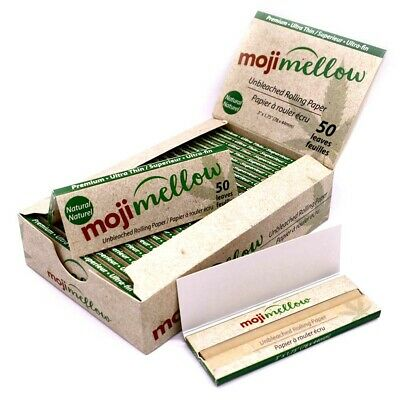 Mo*ji Hemp Cigarette Rolling Papers 78*44mm 25 Booklets=1250 leaves
