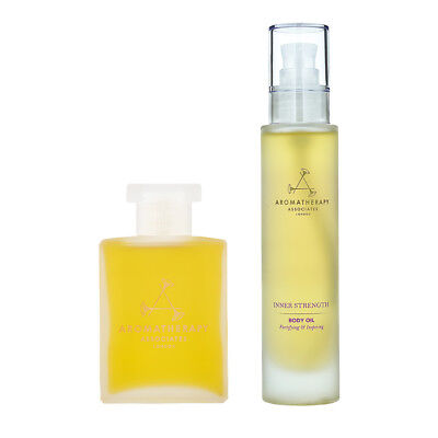 Aromatherapy Associates Bath and Shower Oil + Body Oil (Fortifying & Inspiring)