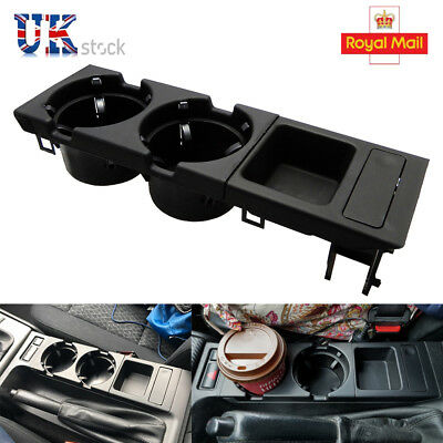 For BMW 3 Series E46 318 320 325 330 1998-2004 Cup Holder &Coin Storage Black UK