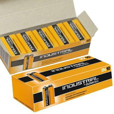 20X Duracell Industrial 9V PP3 Block Alkaline Batteries MN1604 Replaces Procell