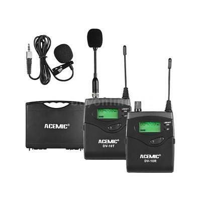 ACEMIC UHF Wireless Microphone Lavalier Lapel Mic for Cannon Nikon DSLR SLR D2C2