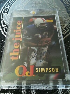 O.J. Simpson AUTO NFL 1995 Signature Rookies Bills Panini Upper Deck #2500