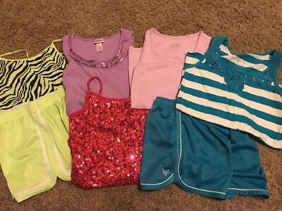Girls Justice Lot Of 2 Athletic Shorts Size 12 And 4 Tank Tops