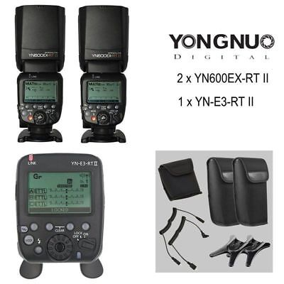 YONGNUO YN600EX-RT II Speedlite Flash + YN-E3-RT II Transmitter for Canon Camera
