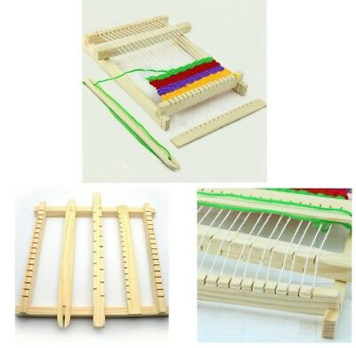 New Weaving Loom Kids Toy Wooden Craft Traditional Hand Pretend Play Knitting CB