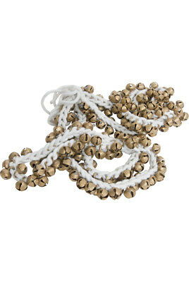 Mid East 5/8 Inch Ankle Bells Brass 100 on Cord Pair