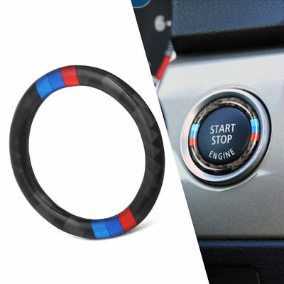For BMW E90 E92 E93 Carbon Fiber Car Engine Start Stop Ring M Stripe 3 Series UK