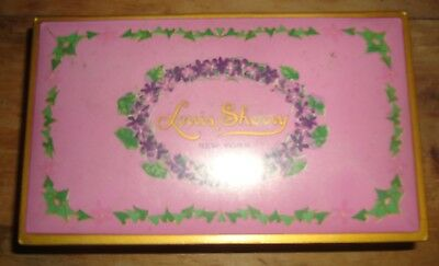 Louis Sherry Empty Hinged Candy Tin Gift Box