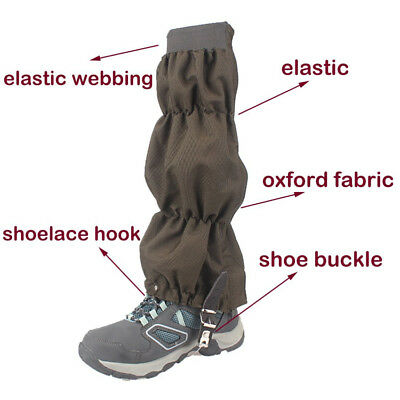 Waterproof Outdoor Climbing Hiking Snow Ski  Snake Cover Boots Legging Gaiters