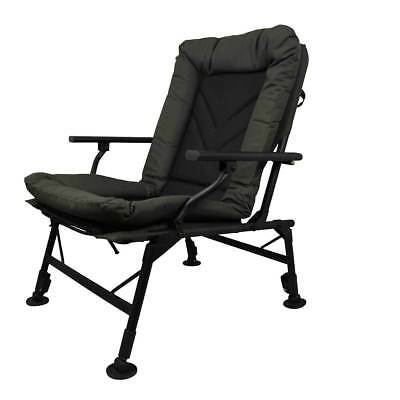 Prologic Cruzade Comfort Chair With Arms Ultra Padded Fishing Adjustable Legs