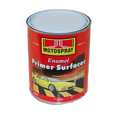 Motospray Enamel Primer Surfacer For All Auto Paints Grey 1L