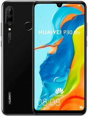 Brand New Huawei P30 Lite 128GB Dual SIM 4G LTE Android Phone (Midnight Black)