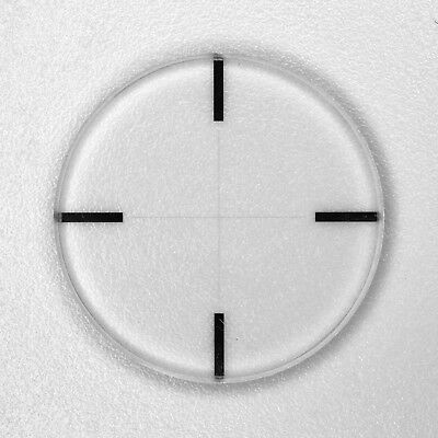 Optical Cross Line Reticle Micrometer for Microscopes Riflescopes Diameter 22mm