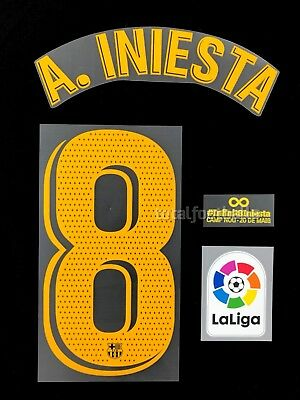 Barcelona 2018-19 Iniesta Infinit Ful Set name set number Player Issue. Avery
