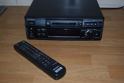 Sony MDS-S38 Mini Disc Player Recorder Black with Remote