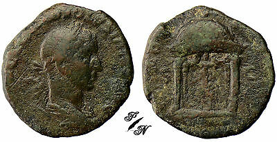 PN0066 - EMPIRE ROMAN - RARE SESTERTIUS - VOLUSIANUS / - Temple of Juno