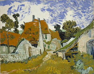 Vincent van Gogh Street in Auvers-sur-Oise Giclee Canvas Print Paintings Poster