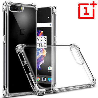 For OnePlus6 5/5T 3/3T Shockproof 360° Clear Back Silicone Soft TPU Case Cover