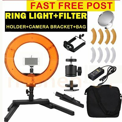 "14"" LED Ring Beauty Light Desktop Stand Bracket For Video Makeup Selfie US"