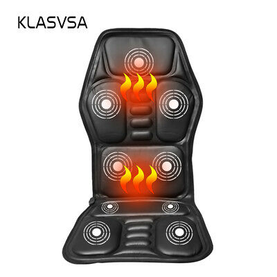 Back Neck Massage Cushion Heated Body Vibration Massager Chair Car Seat Mat