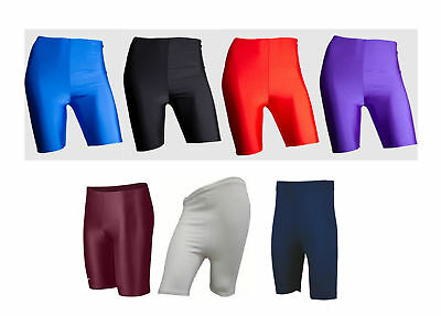 Girls/Boys Mens/Ladies Lycra Cycling Shorts Kids School Gym Dance Running Shorts