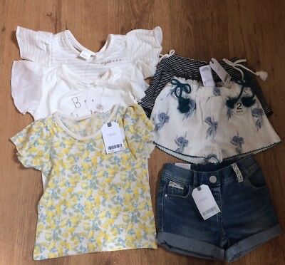 Girls Next 3 Pairs Of Shorts And 3 Tops 9-12 Months Bnwt