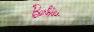 Barbie waist tie green and white checks 138cm length
