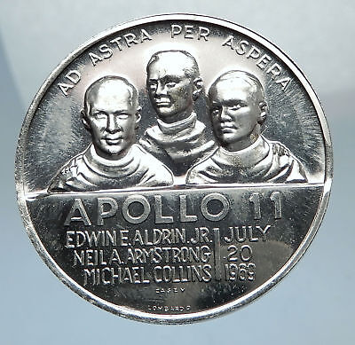 1969 NASA APOLLO 11 1st US Moon Landing USA Medal ASTRONAUTS SPACE CRAFT i67552
