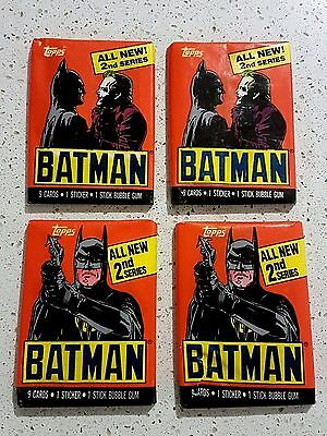 Topps Batman Movie Trading Cards x 4 - 2nd Series - 1989 - Sealed - Unopened!
