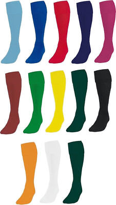 Plain Football Socks Soccer Hockey Rugby Sports PE Socks Boys/Girls Mens/Womens