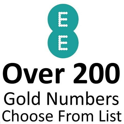 Ee Gold Vip Business Easy Mobile Phone Number Diamond Platinum Payg Sim Card