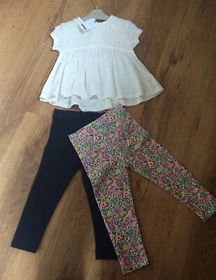 Girls Next 18-24 Months 1.5-2 Years Set Of 2 Leggings And Top Bnwt