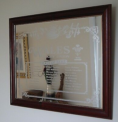 Welsh Rugby Union Hall Of Fame Mirror WRU Memorabilia Some 27 Of Many Picture