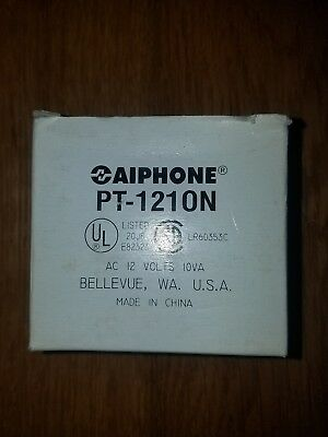 Brand New Aiphone PT1210N Plug-in Transformer, 12-VAC Power Supply  UL and CSA