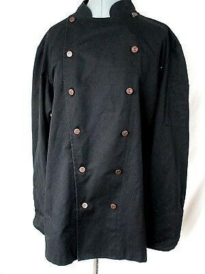 Culinary Classics Chef Coat Double Breasted Black Large Adult