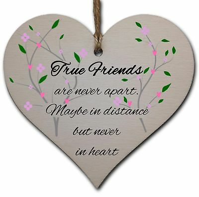 Handmade Wooden Hanging Heart Plaque Gift Perfect for your Best Friend Friendshi