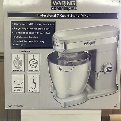 Waring Commercial Stand Mixer WSM7Q 7 Quart Heavy Duty 12 Speeds NEW IN BOX