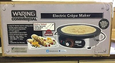 """Waring WSC160X Commercial Electric 16"""" Crepe Maker NEW IN BOX"""