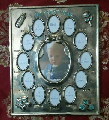 My First Year Photo Frame Baby PIcture Frame Expressions Birth 1 month 12 months