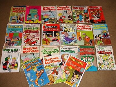 Lot of  21 Dennis the Menace Comics and Giants 1960s and 70s VG Nice Lot