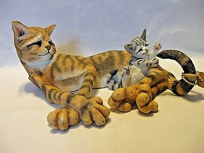 "a Breed Apart~Country Artists~Silver ""n"" Gold 04732~CAT/KITTEN Playing w/Tail"