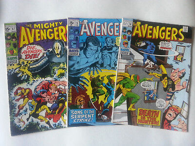 Avengers #67 #73 #74 Vg+/fn/fn- Ultron Introducing Black Panther Etc