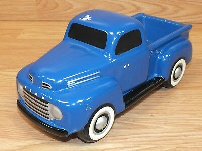 Genuine Ford Teleflora Gift Blue Ceramic Vintage Style Collectible Truck *READ*