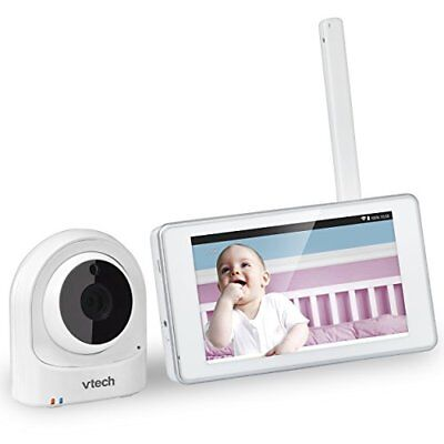 VTech VM981 Wireless WiFi Video Baby Monitor with Remote Access App, 5-inch 10x