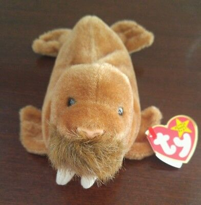 Ty Beanie Baby Babies Retired PAUL with production errors.