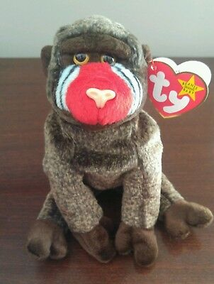 Ty Beanie Baby Babies Retired CHEEKS with production errors.