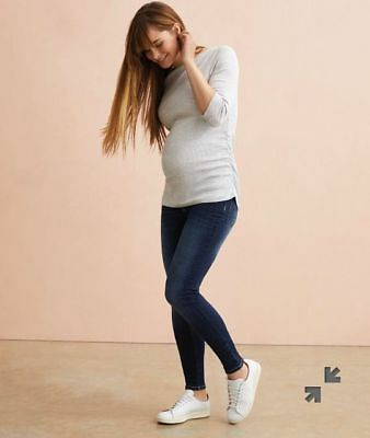 Blue mid wash under the bump maternity jeans by Blooming Marvellous (ME-867)