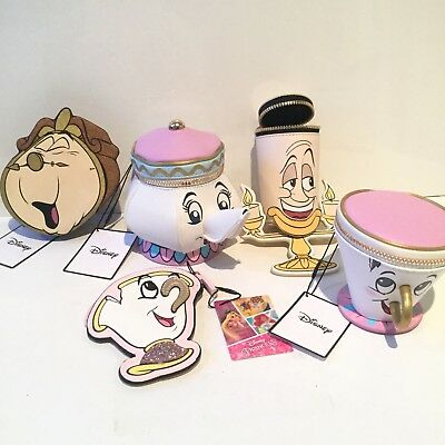 Five Purses Beauty And The Beast Mrs Potts Chip Lumière Cogsworth Primark Disney
